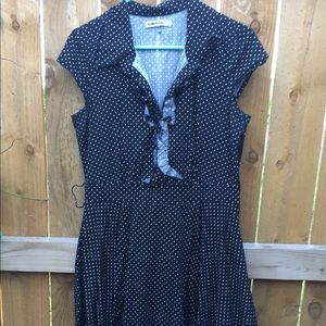 bailey blue Large Navy Blue Spotted Dress
